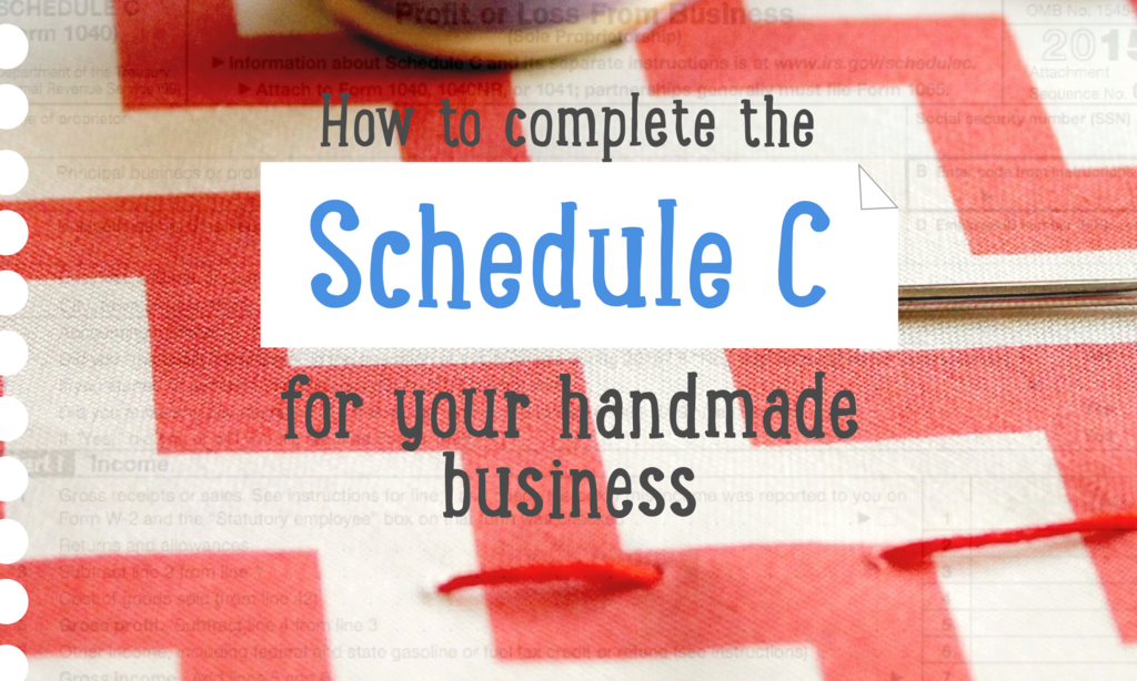 2017 Instructions for form 1099 Misc Fresh How to Plete A Schedule C for Your Handmade Business