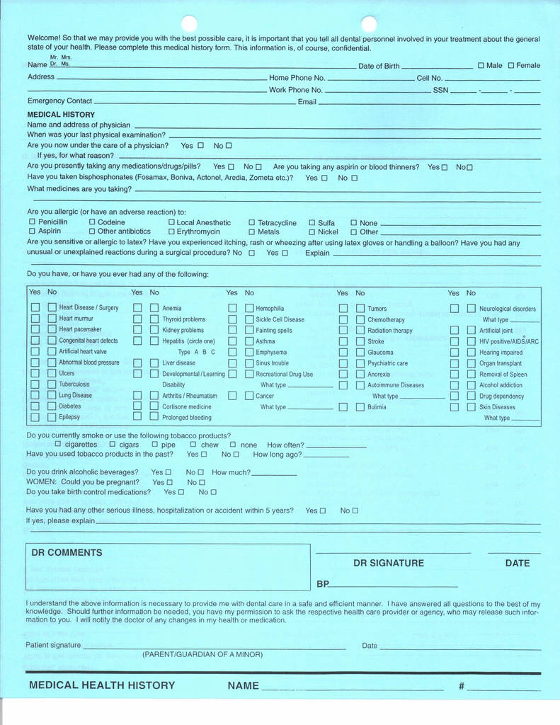 Abc Legal Process Service form Brilliant New Patient Health History form Vatozozdevelopment