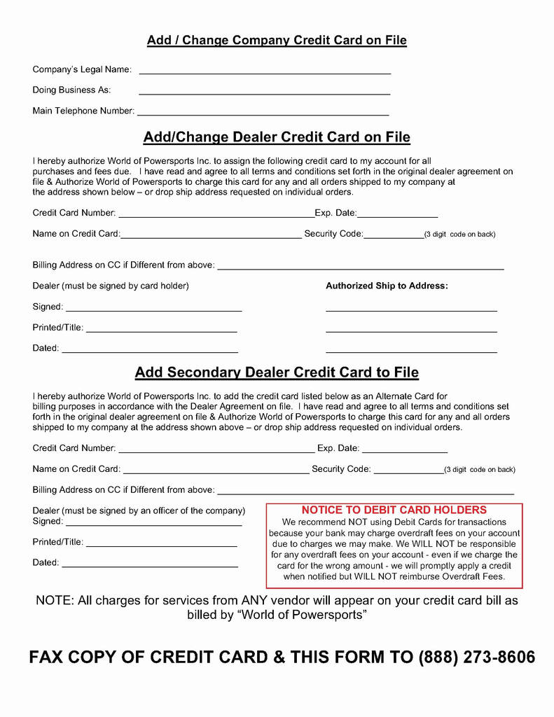 Authorize Net form Example New Credit Card On File form Templates Akbaeenw