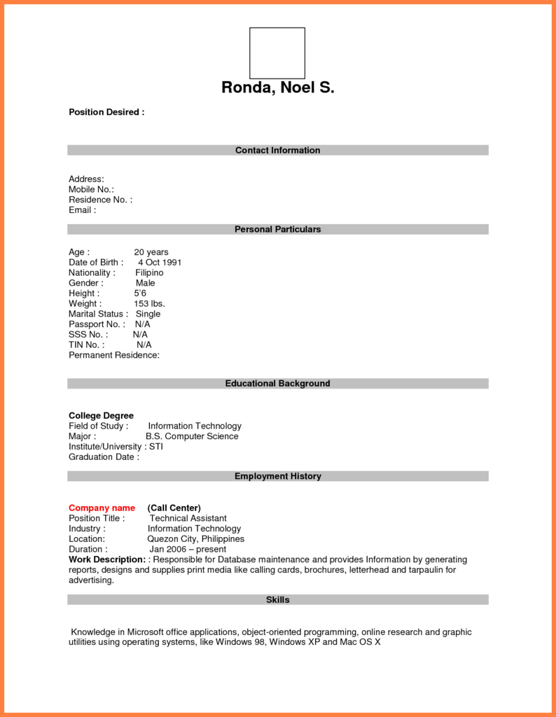 Chapter 13 Forms Pdf Awesome Format For Job Application Pdf Basic