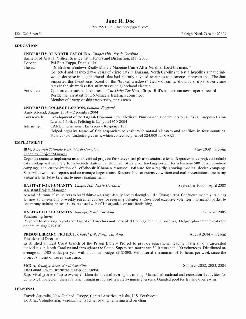 Form 508 Nc Dmv Elegant Resume Sample for Graduat Etrainee Archives Page 3 Of 4
