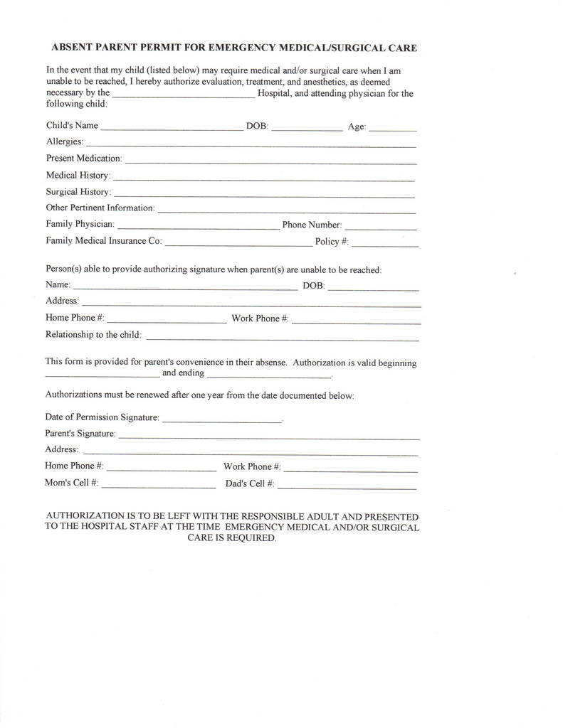 Free Child Medical Consent form Pdf Brilliant Medical