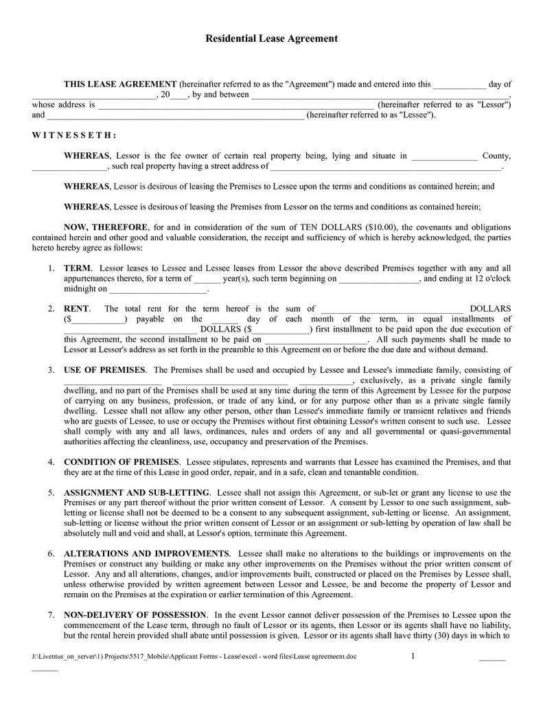 Free Indiana Residential Lease Agreement form Elegant Free Copy Rental Lease Agreement Lease Agreement Template