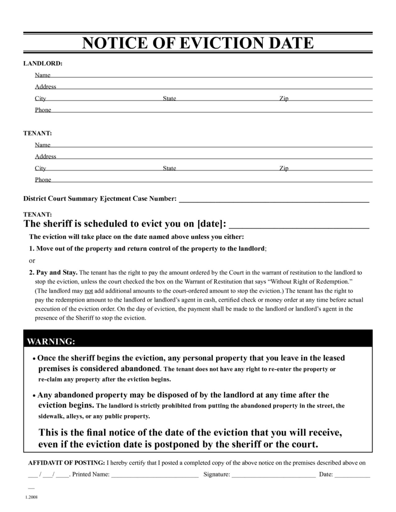 Free Indiana Residential Lease Agreement form Elegant Free Eviction Notice Template Printable Eviction Notice