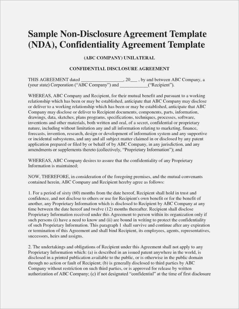 Group Therapy Confidentiality Agreement Form New Mutual Nda Template
