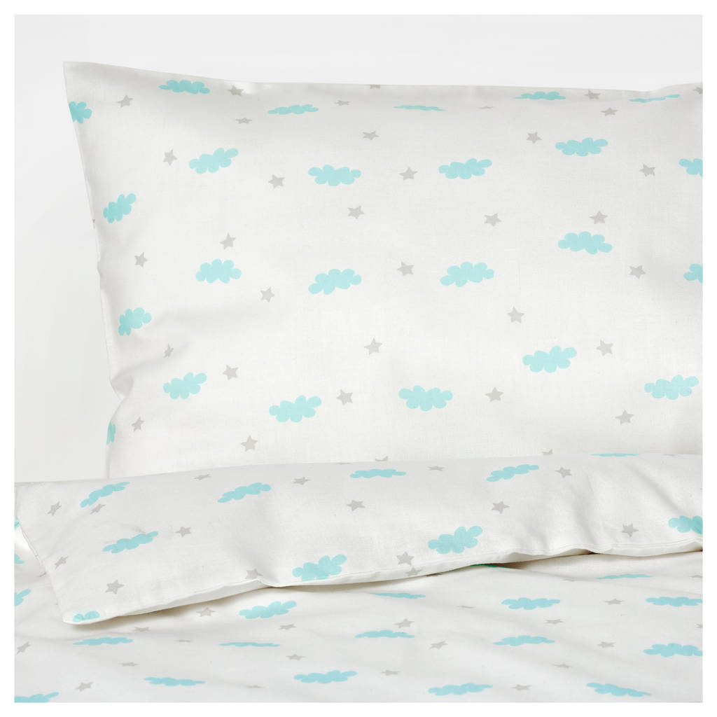 Ikea Down Pillow forms Brilliant Ikea Himmelsk 4 Piece Bedlinen Set for Crib Turquoise