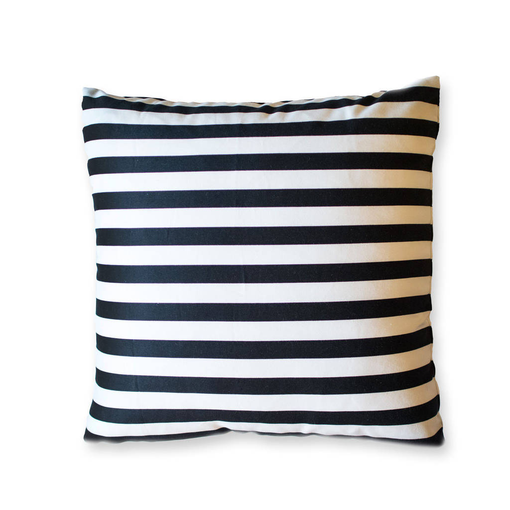 Ikea Down Pillow forms New Black and White Striped Pillow