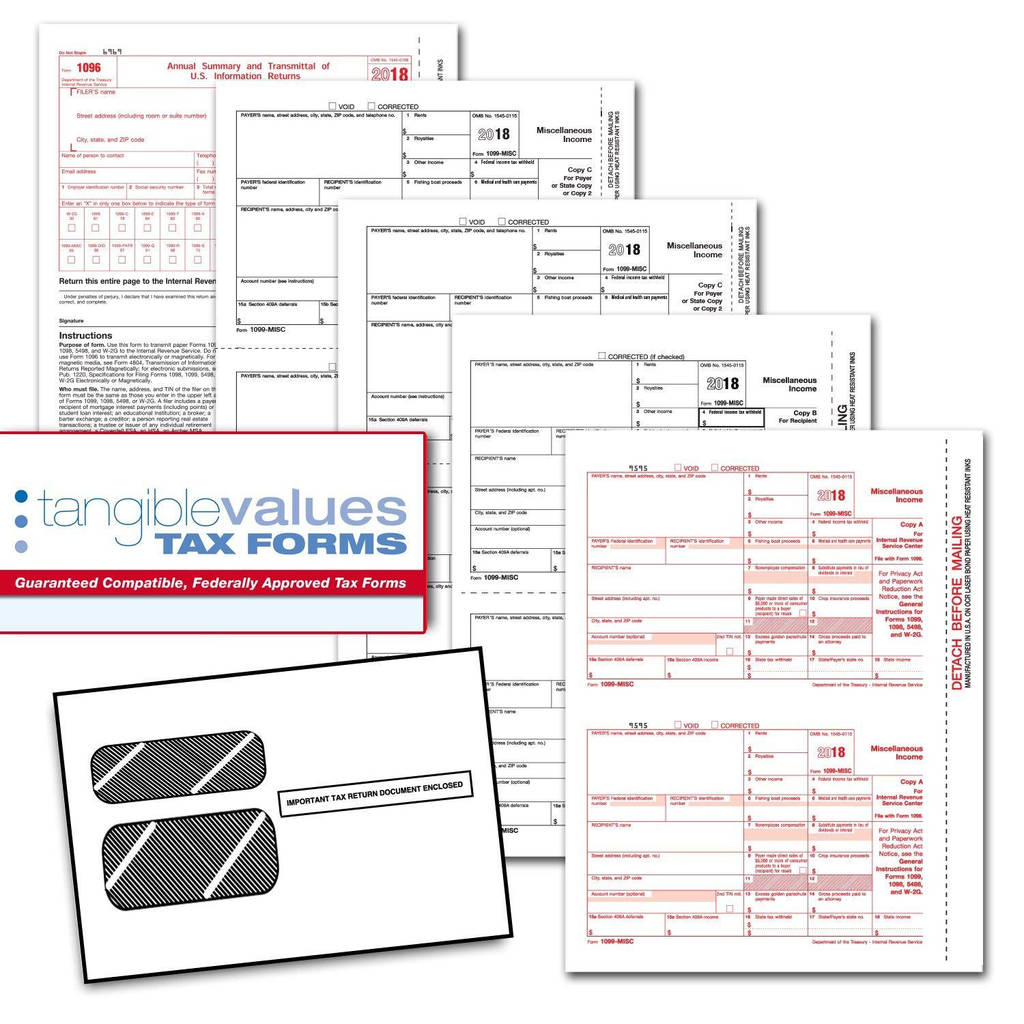 Irs form 1096 for 2017 Awesome Amazon Tangible Values 1099 Misc Laser forms 4 Part Kit with