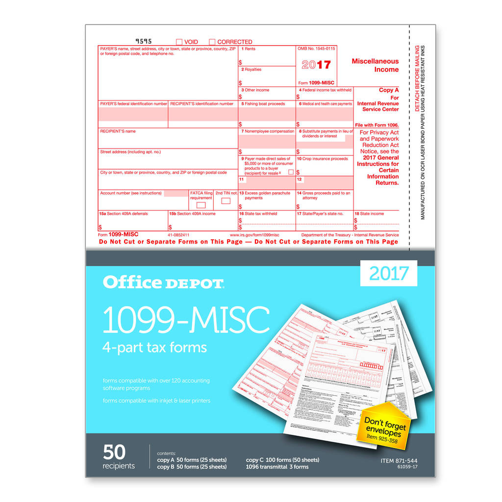 Irs form 1096 for 2017 Awesome Tax forms at Fice Depot Ficemax