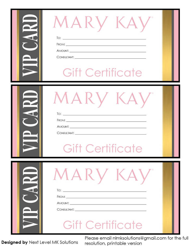 Mary Kay order form Pdf Lovely Mary Kay T Certificates Please Email for the Full Pdf Printable