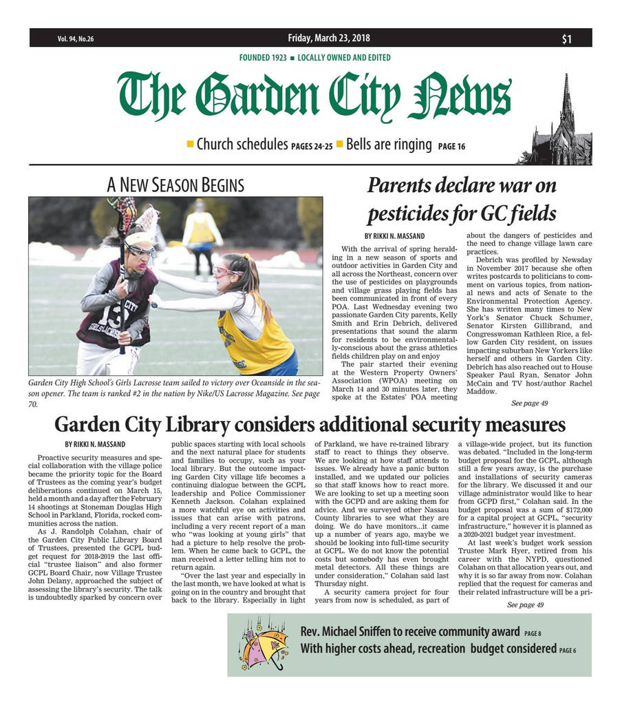 Nassau County Lifeguard Physical form Unique the Garden City News 3 23 18 by Litmor Publishing issuu