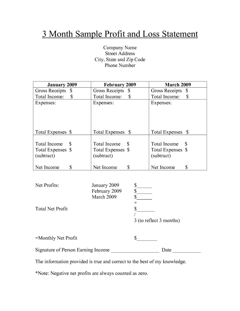 Non Profit 501c3 form Beautiful Free Printable Profit and Loss Statement form for Home Care Bing