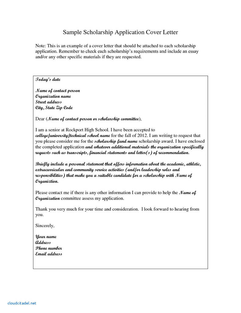 Scholarship Cover Letter Sample from www.flaminke.com