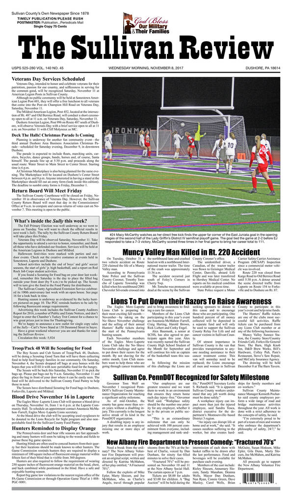 Piaa Sports Physical form Lovely the Sullivan Review November 8 2017 Pages 1 16 Text Version