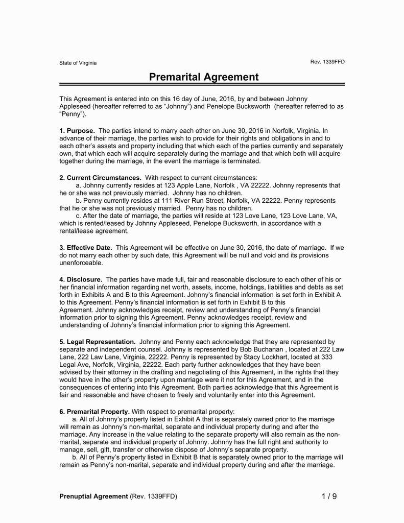 Post Nuptial Agreement Arizona Form Beautiful Prenuptial And