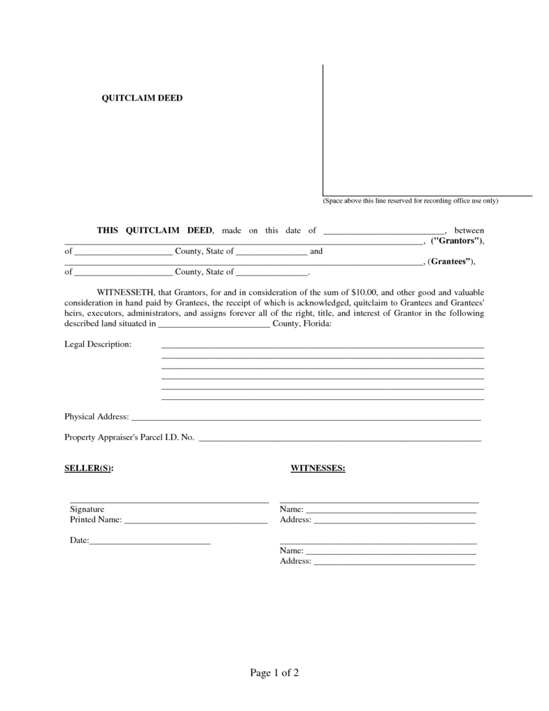 quick claim deed form orange county california  Quit Claim Deed form California orange County Unique Quit ...