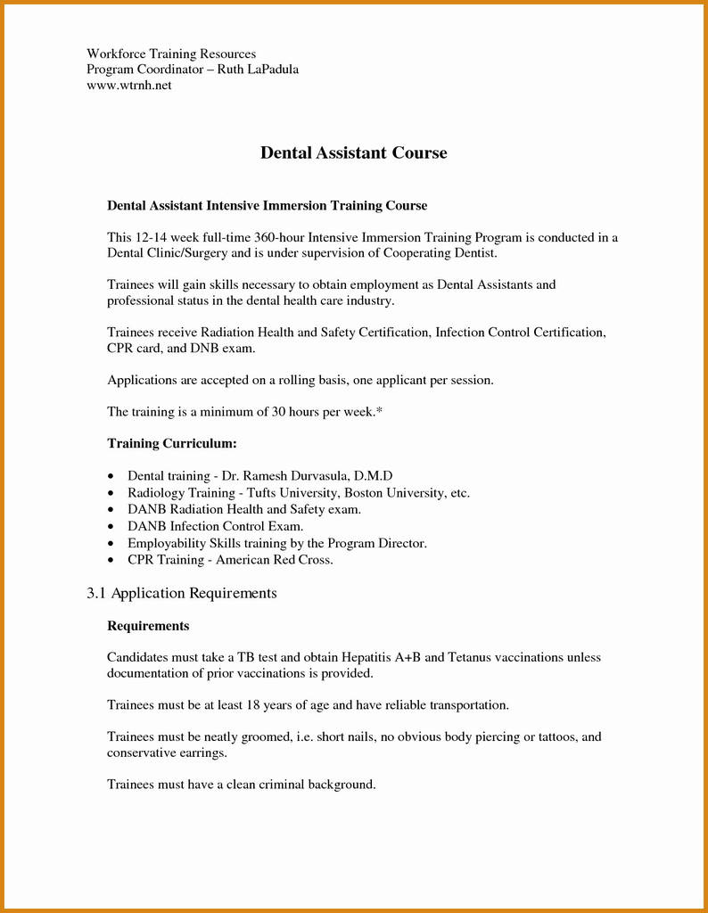 Refusal Of Dental Treatment form New Sample Dental assistant Resume New Awesome Dental assistant Resume