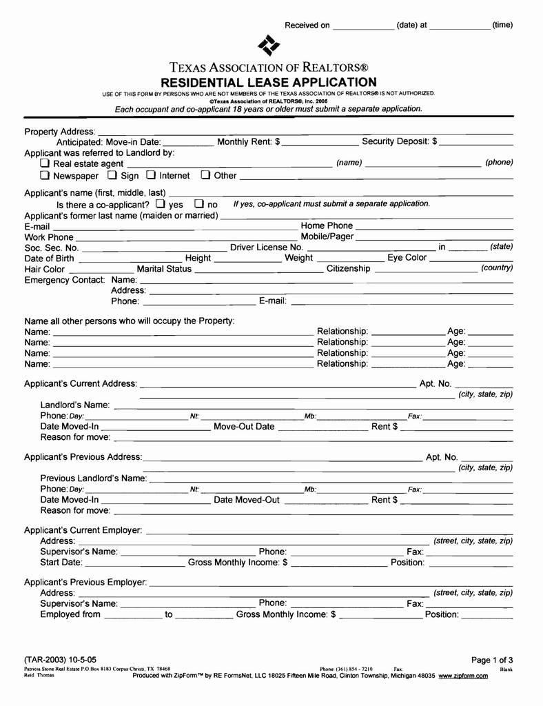 Rental Application form Ohio Lovely Texas Rental Agreement Contract Inspirational Texas Llc Operating