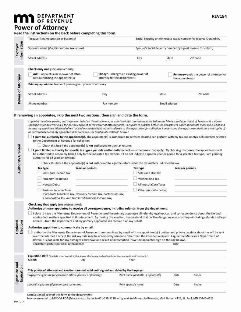 Ri Power Of attorney Short form Elegant Indiana State forms