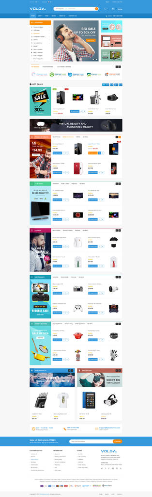 Shopify Custom Contact form Elegant Volga Megashop Responsive Shopify theme Technology Electronics