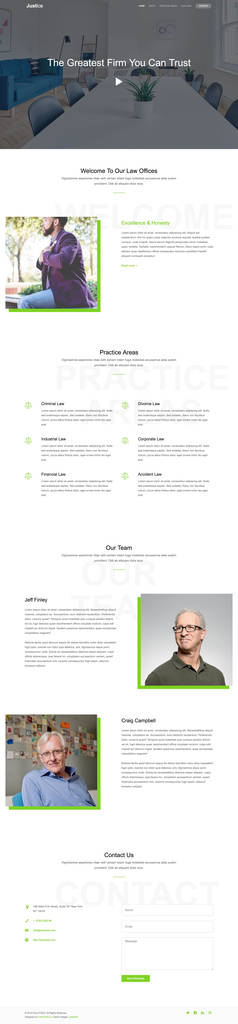 Shopify Custom Contact form Lovely Justice is A Free E Page HTML Template Built for A Law Firm