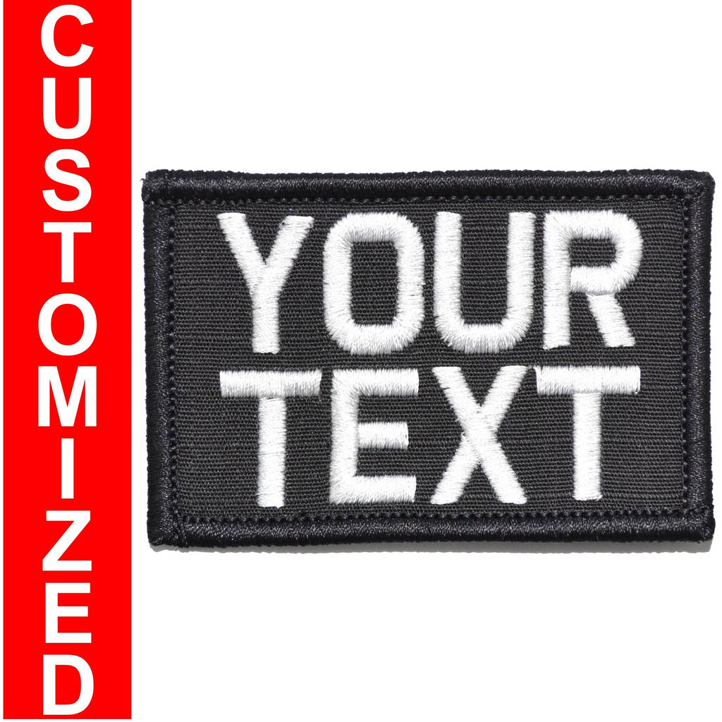 Shopify Custom Contact form New Custom Text Military 2x3 Inch Patch Your Text