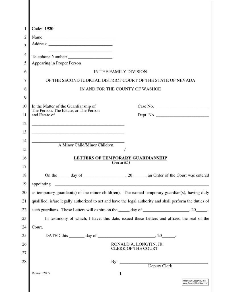 South Carolina Child Custody forms Awesome Free Guardianship Letter Template Samples
