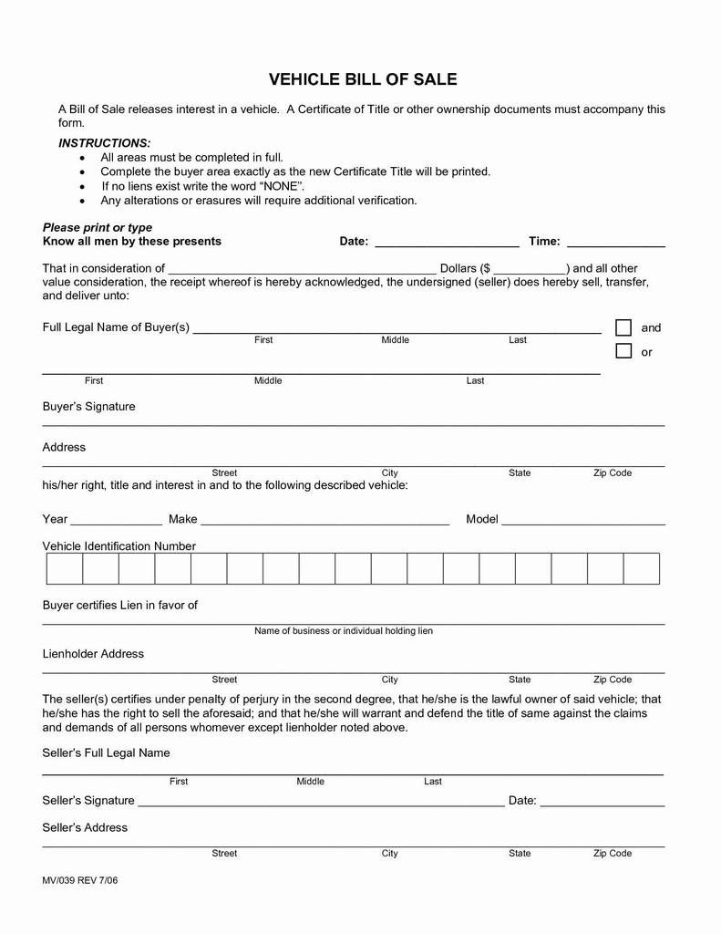 state of florida vehicle bill of sale form brilliant sample bill