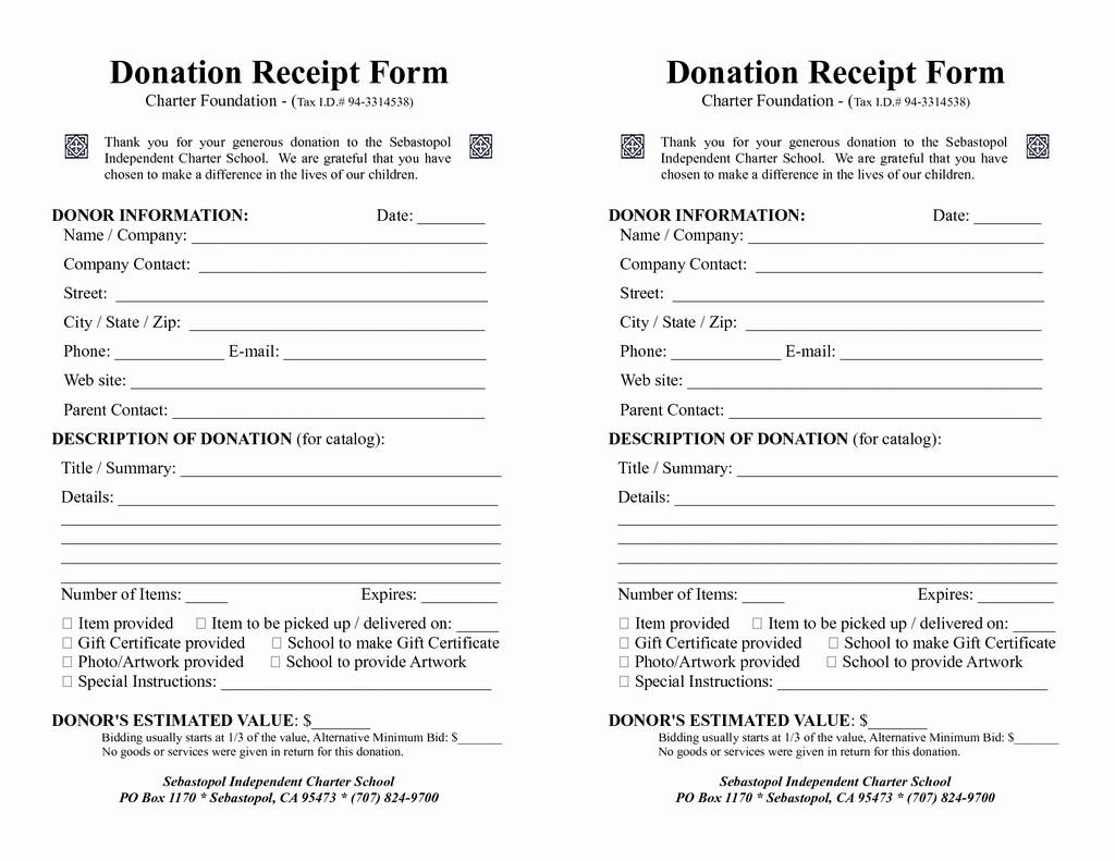 Tax Exempt Donation form Awesome Printable Donation form Template Awesome Free Blank order form