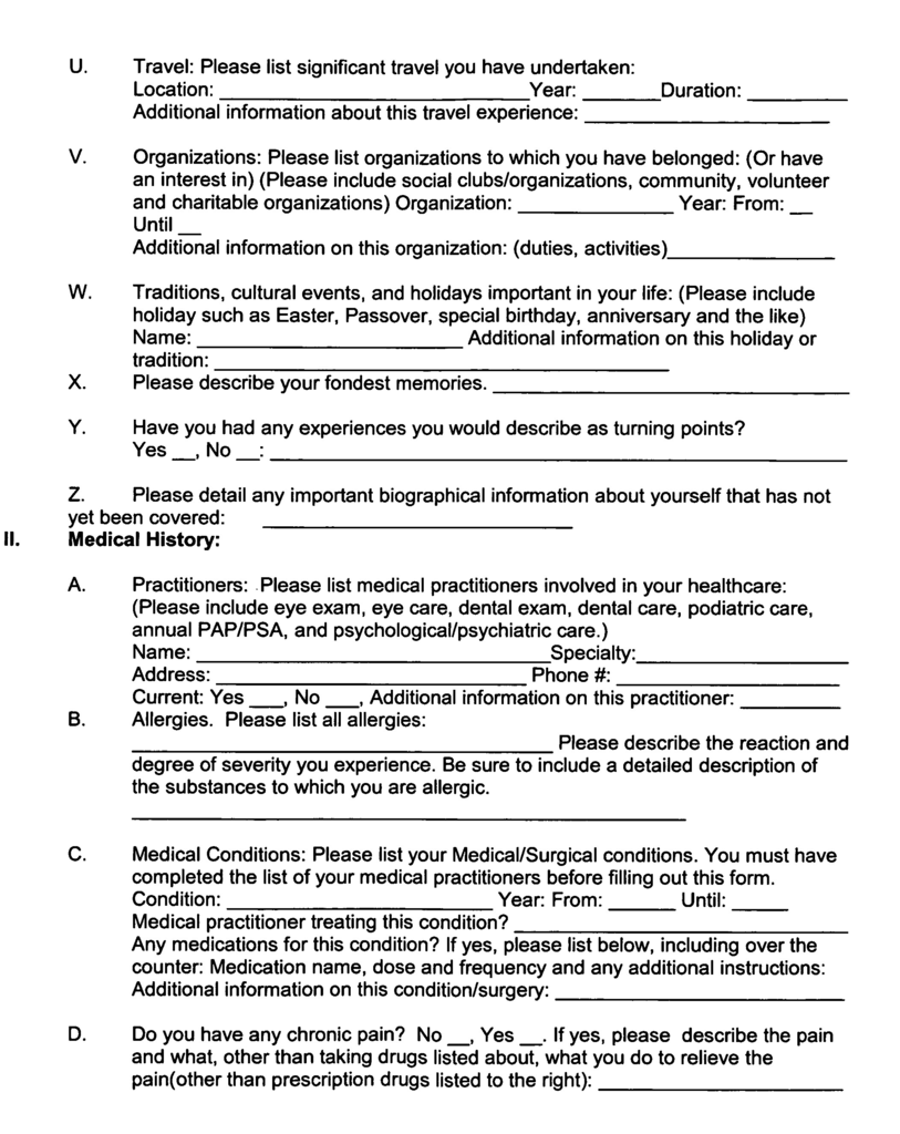 Temporary Health Care Proxy form Elegant Us A1 Advance Care Plan Google Patents