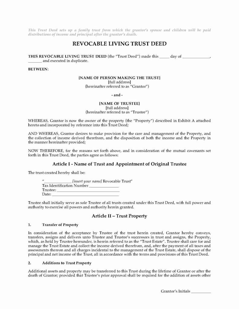 Texas Release Of Deed Of Trust form Brilliant Living Trust form Free Revocable Ny State Texas forms Washington