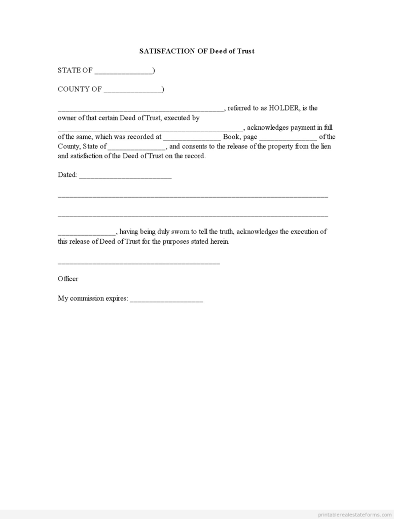 Texas Release Of Deed Of Trust form New Best S Of Printable Lien Release form Free Printable Lien
