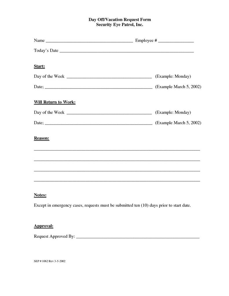 Time Off Request form Template Pdf Beautiful Employee Time F ...