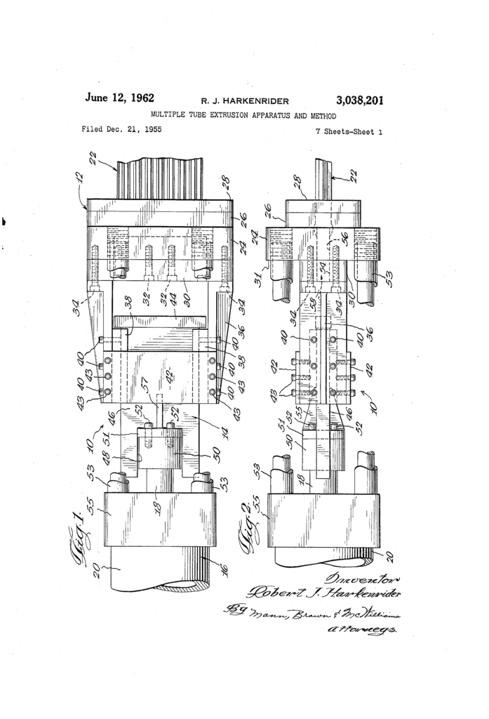 Tube End forming Dies Brilliant Patent Us Multiple Tube Extrusion Apparatus and Method