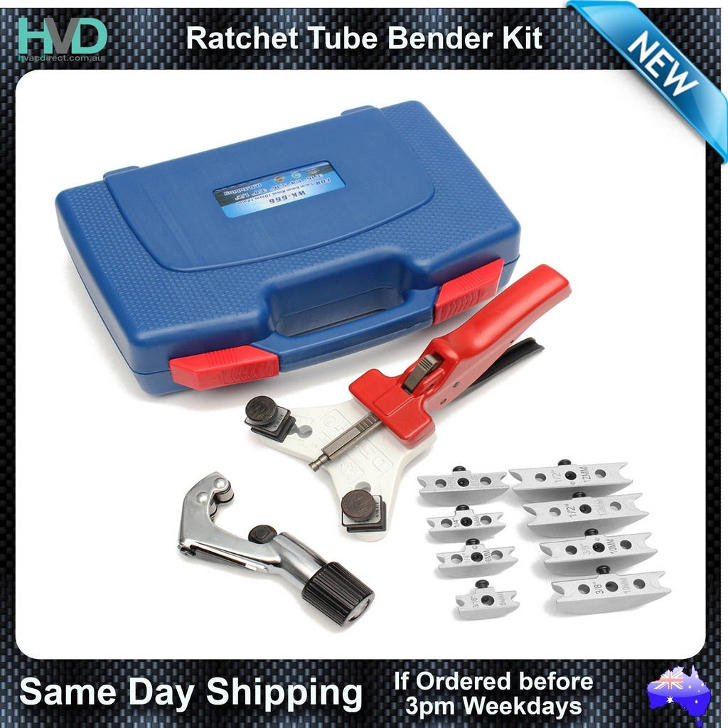 "Tube End forming Dies Unique Hand Held Tube Bender with Multiple Size forming Dies 1 4"" to 1 2"