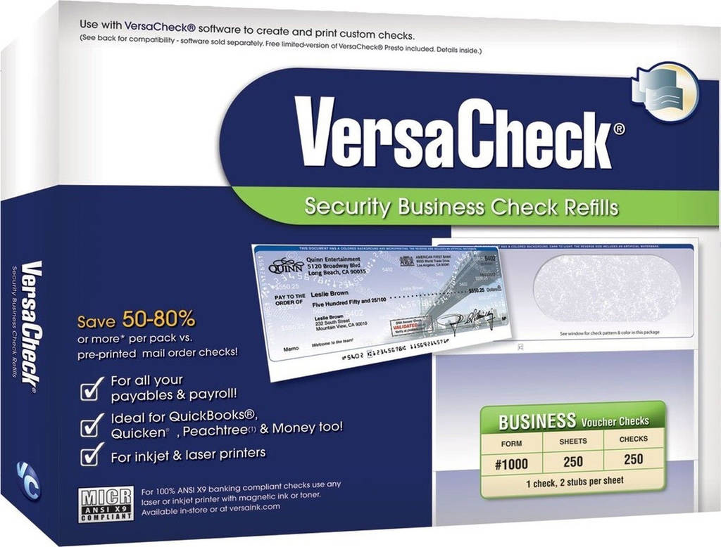 Versacheck Security Check Refills form 1000 Beautiful Versacheck form 1000