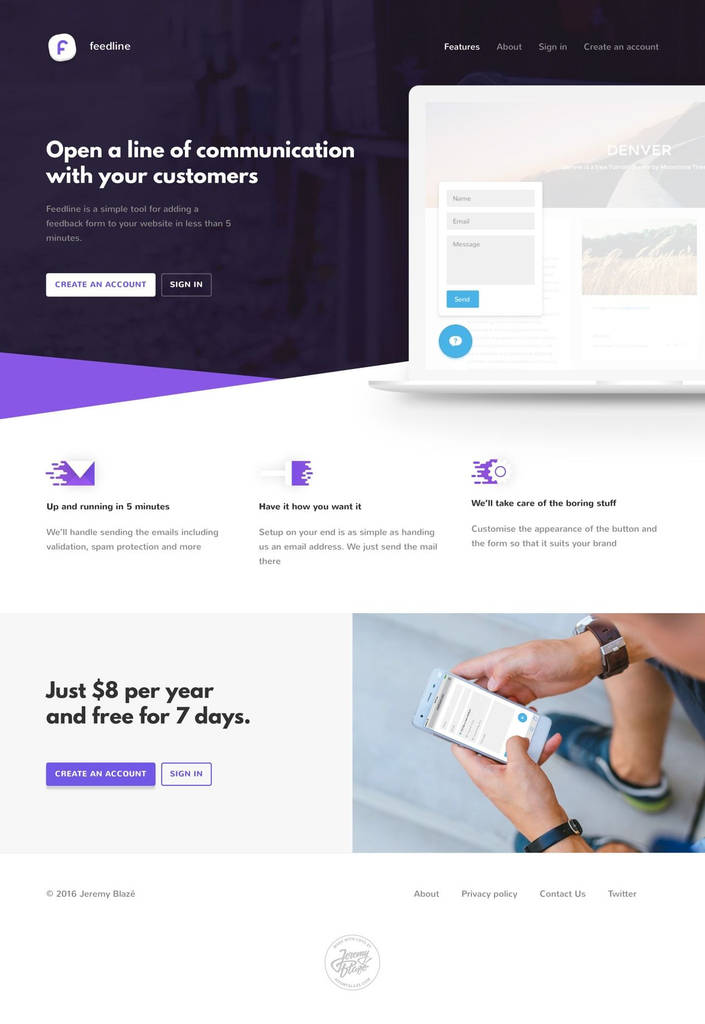Web form Design tool Brilliant Feedline Web Design Inspiration Pinterest