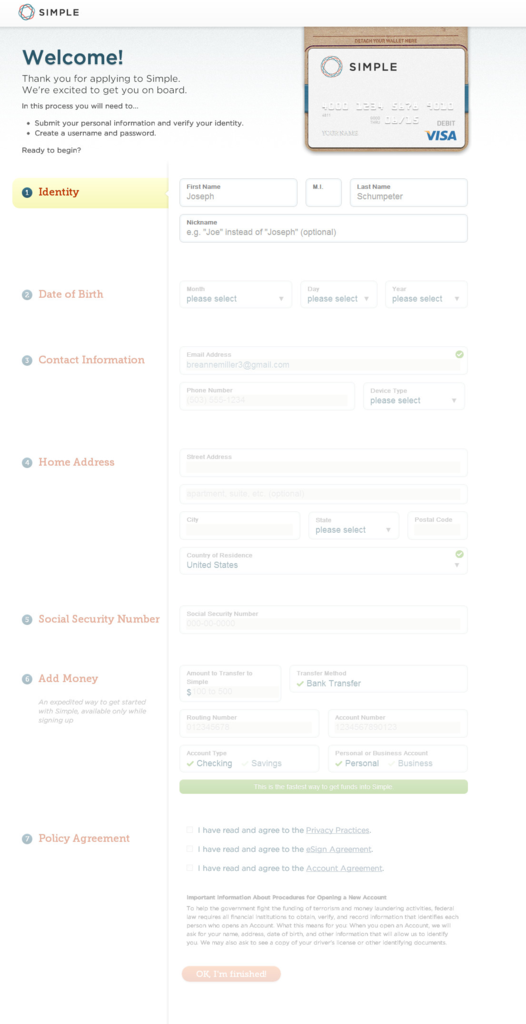 Web form Design tool Lovely Bank Simple form Design Ui form Design Pinterest