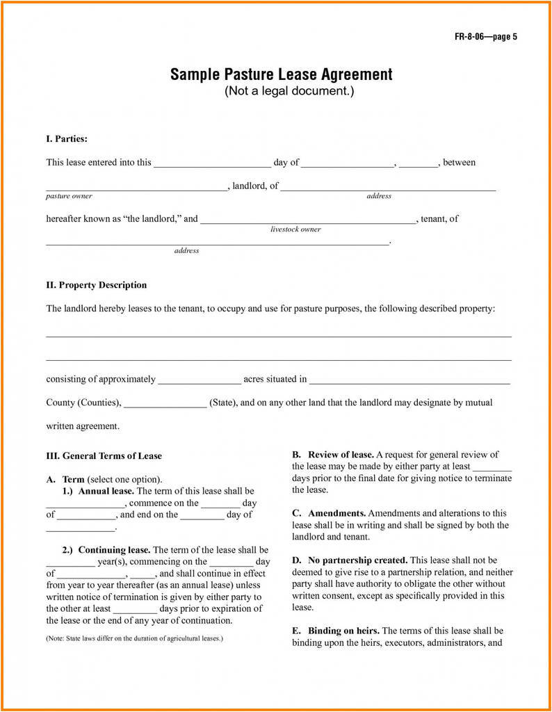 Agricultural Lease Agreement Elegant 029 Simple Lease Agreement Template Free Lovely Renters form Doc by