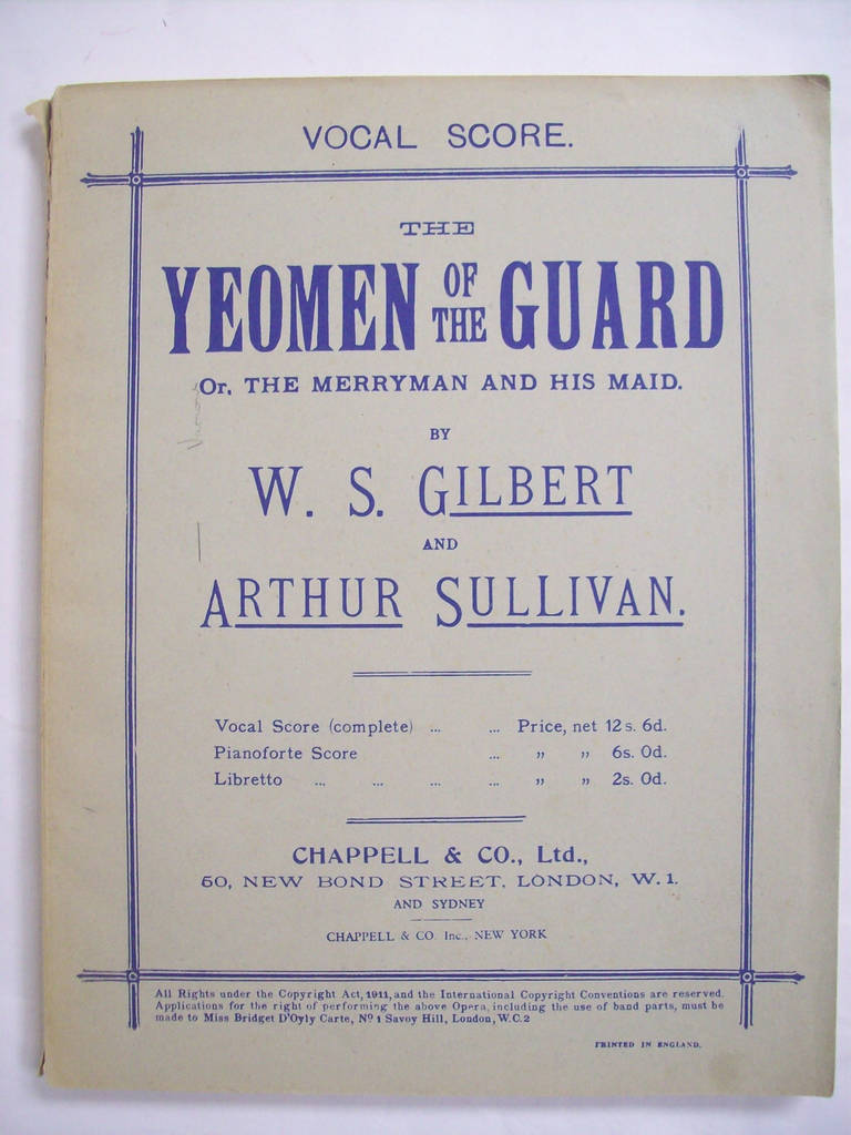 Apartment Lease Agreement Ny Beautiful the Yeoman Of the Guard or the Merryman and His Maid [vocal Score