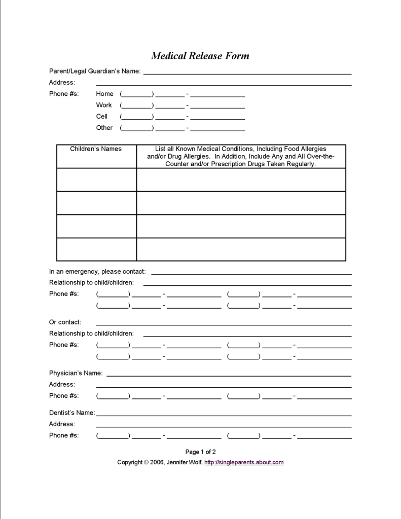 Child Custody Agreement Samples Brilliant Free Printable forms for Single Parents
