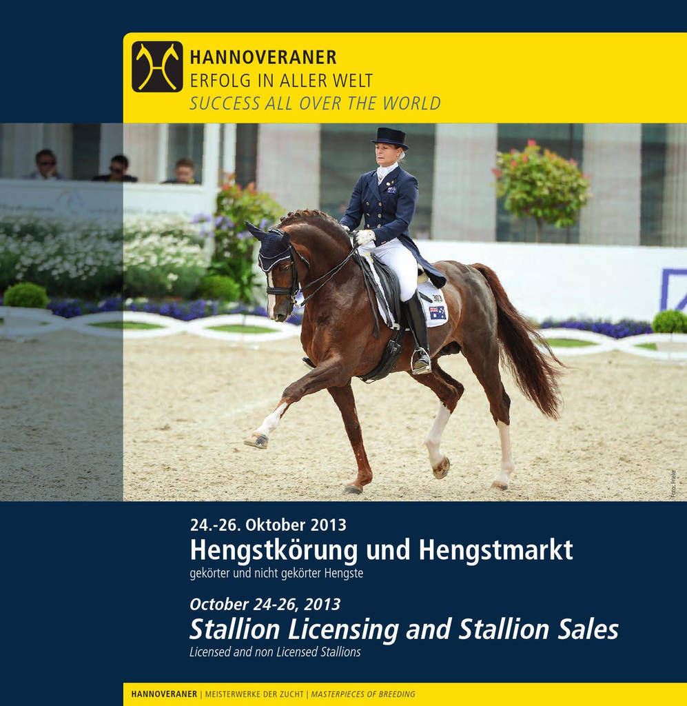 Horse Purchase Agreement New Hannoveraner Hengstkörung Und Hengstmarkt Hanoverian Stallion