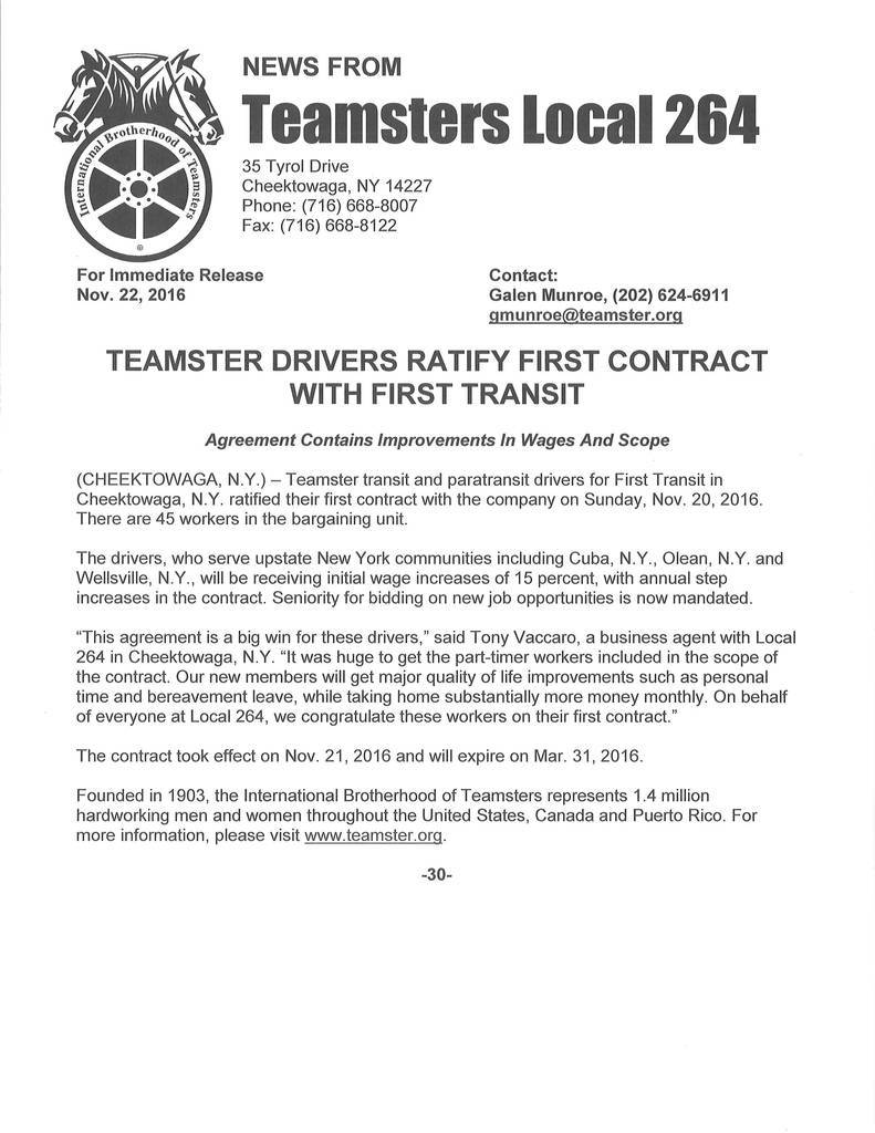 Independent Contractor Delivery Driver Agreement Inspirational Teamsters Local 264