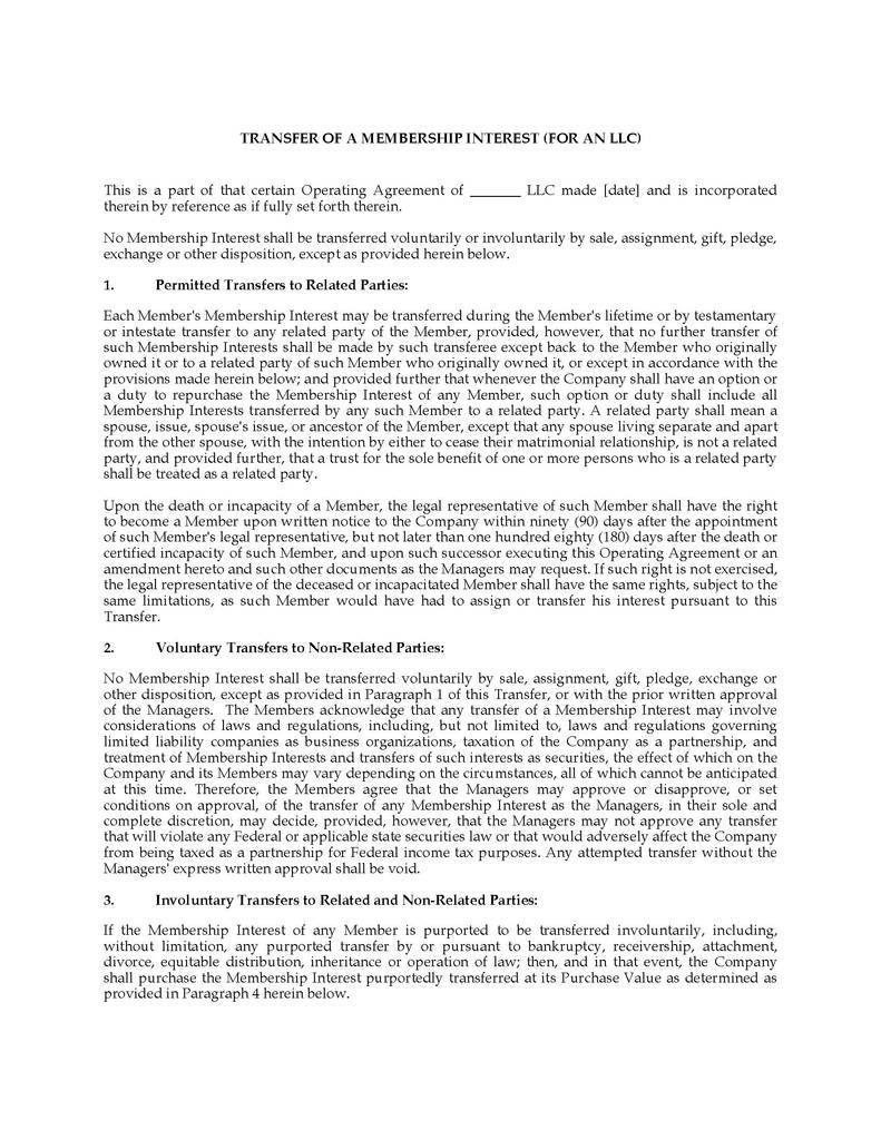Llc Membership Interest Purchase Agreement Beautiful assignment Of Llc Membership Interest form 10 solid