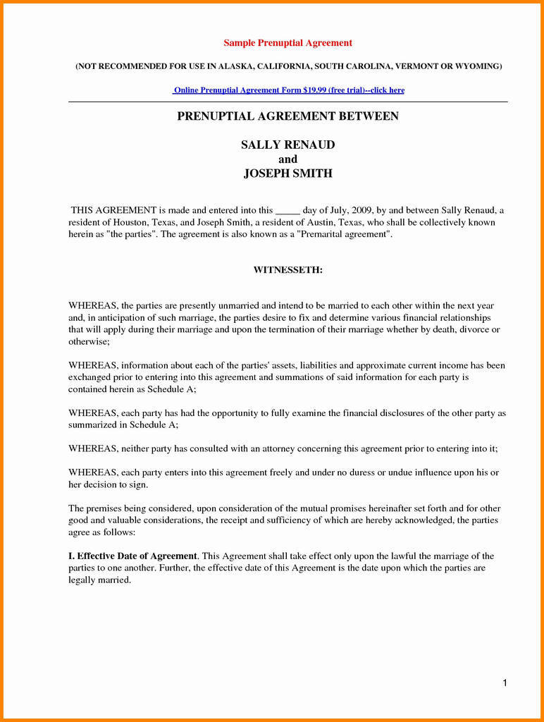 Free Prenuptial Agreement Fresh 10 Free Printable Prenuptial Agreement form