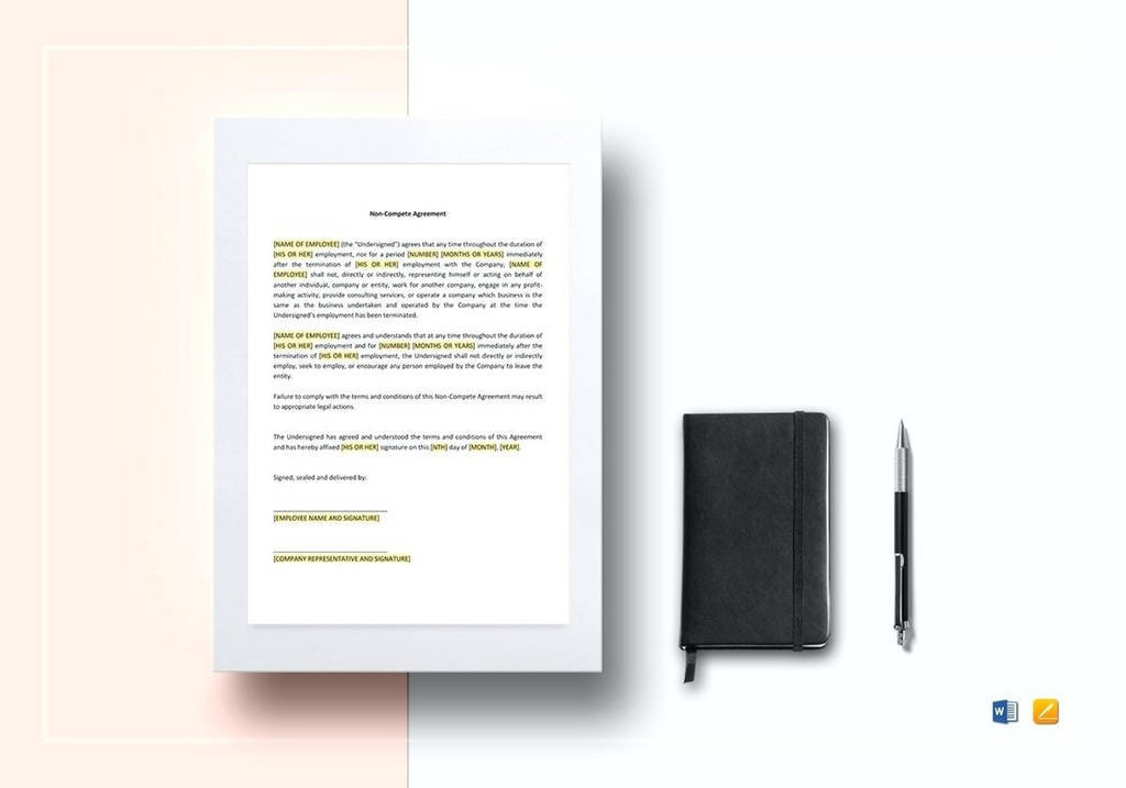Release From Non Compete Agreement New 018 Non Petition Agreement Template Pete Free Download