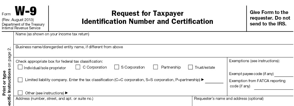 1099 form Vs W9 Inspirational form W 9 Request for Taxpayer Identification Number and