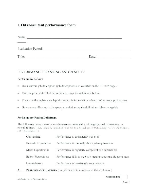 30 Day Employee Review form Lovely Job Job Probation Review Template Day Evaluation Employee