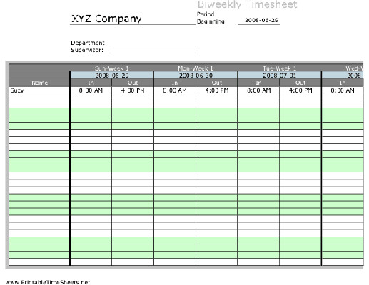 Google forms for Timesheets Awesome Biweekly Multiple Employee Timesheet 1 Work Period