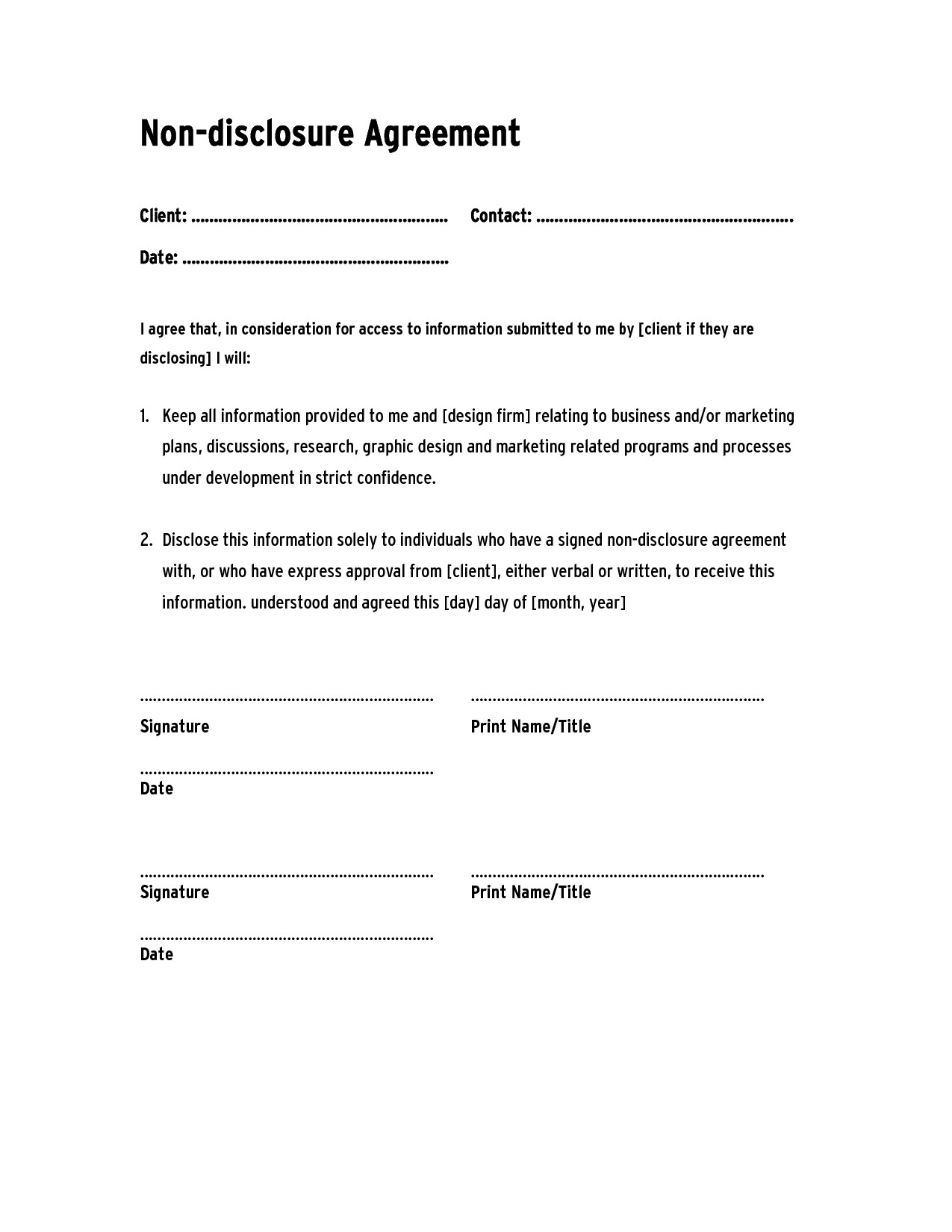 Hipaa Confidentiality form for Employees Awesome Non Sure Agreement form Free Business Sale Nda Template Pdf